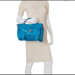 Proenza Schouler  blue PS1 leather shoulder bag